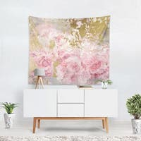 Oliver Gal 'Pink and Gold Camellias' WallTapestry