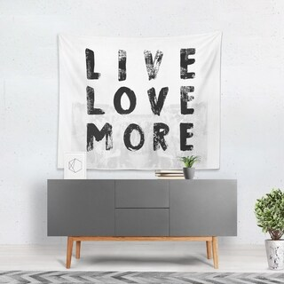 Oliver Gal 'Live and Love' WallTapestry