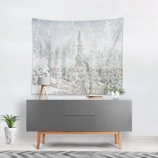Oliver Gal 'Magic Snow Trees' WallTapestry