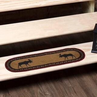 "Cumberland Oval Jute Stair Tread - 8.5"" x 27"""