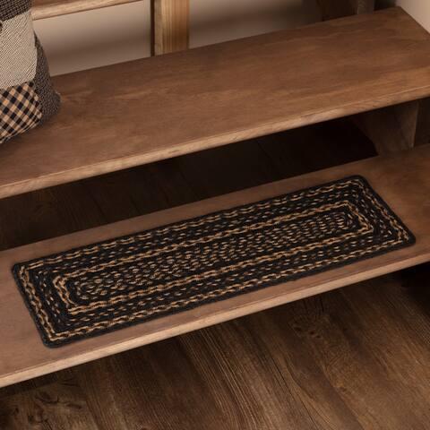 Black Primitive Flooring VHC Farmhouse Stair Tread Jute Rectangle - 8.5x27
