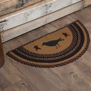 "Heritage Farms Crow Half Circle Jute Rug (1'4.5"" x 2'9"") - 1'4.5"" x 2'9"""