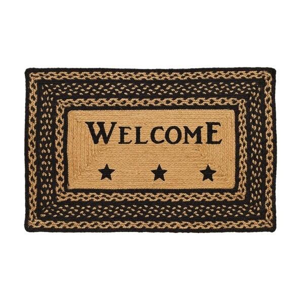 """Farmhouse Jute Stencil Welcome Rug (1'8"""" x 2'6"""") - 1'8"""" x 2'6"""""""