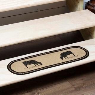 "Sawyer Mill Cow Oval Jute Stair Tread - 8.5"" x 27"""