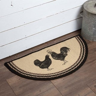 "Sawyer Mill Poultry Half Circle Jute Rug - 1'4.5"" x 2'9"""
