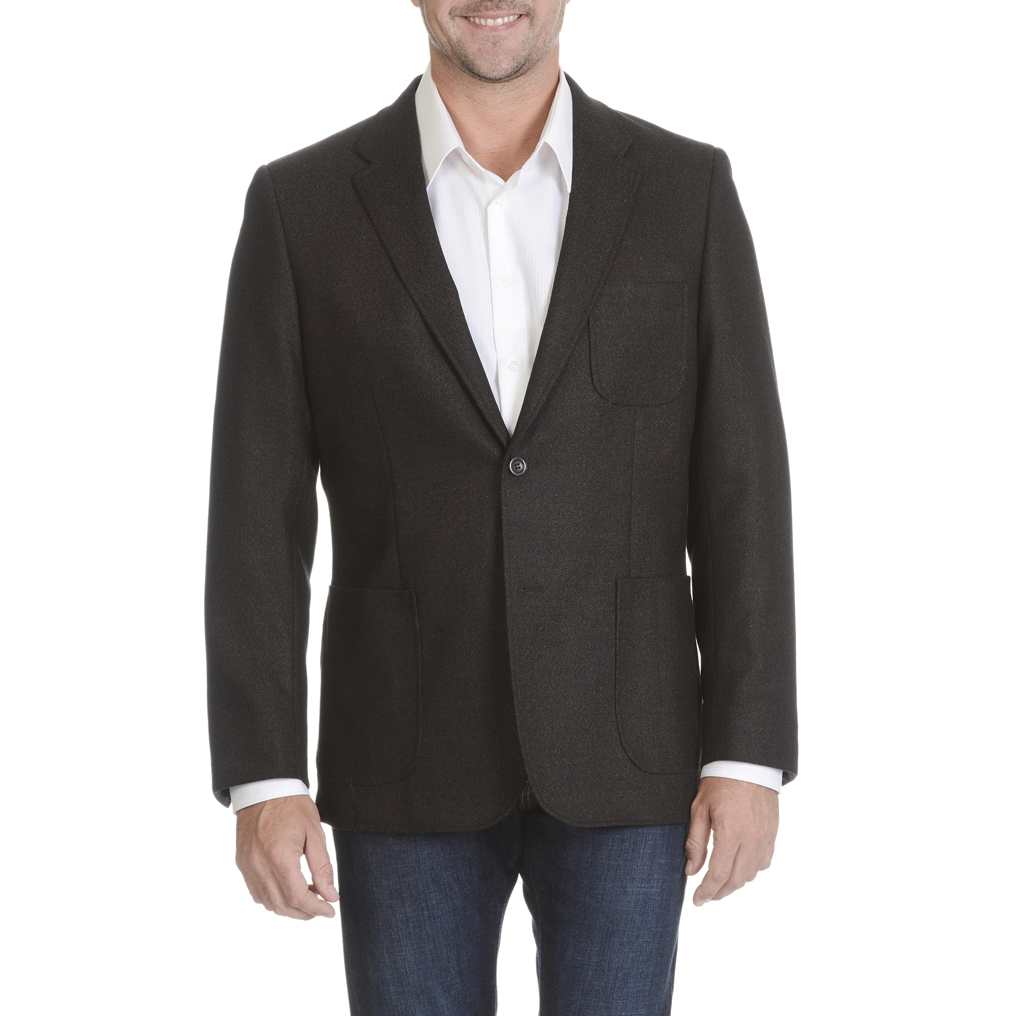 Mens 48L Prontomoda Classic Fit Solid Black Lambs Wool Cashmere Blend Blazer ...