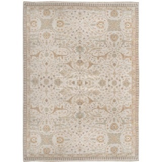 Handknotted Designer Wool and Silk Serenity Rug (10' x 13'4'') - 10' x 13'4''