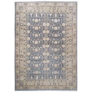 Wool and Silk Samarkand Rug - 9'8'' x 13'10''