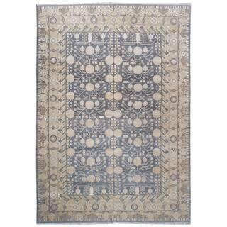 Wool and Silk Samarkand Rug (9'8'' x 13'10'') - 8' x 8'