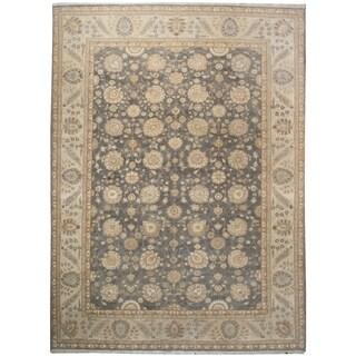 Handknotted Designer Wool Tabriz Rug (9'8'' x 13'8'') - 9'8'' x 13'8''