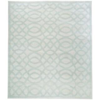 Handknotted Designer Wool Geometric Rug (9'9'' x 11'9'') - 9'9'' x 11'9''