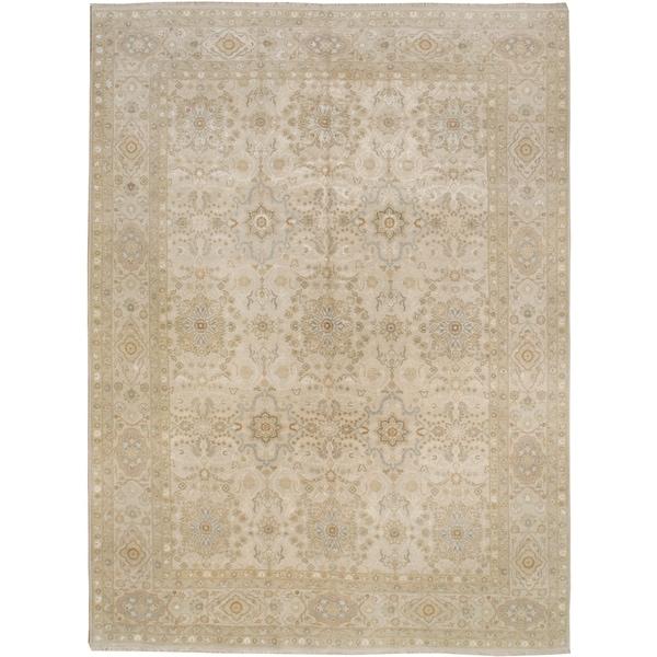 Handknotted Designer Wool And Silk Tabriz Rug 8 X27 11