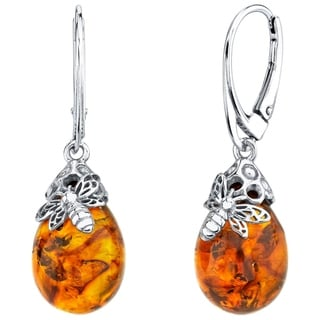 Link to Oravo Baltic Amber Sterling Silver Bee Drop Earrings Similar Items in Necklaces