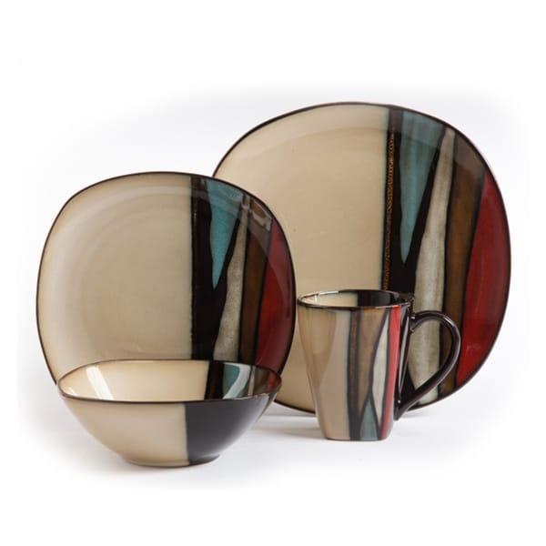 Gibson Elite Althea 16 Piece Stoneware Dinnerware Set