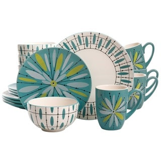 Studio California Luminescent Anza 16-Piece Dinnerware Set in Teal  sc 1 st  Overstock & Coastal Dinnerware | Find Great Kitchen u0026 Dining Deals Shopping at ...