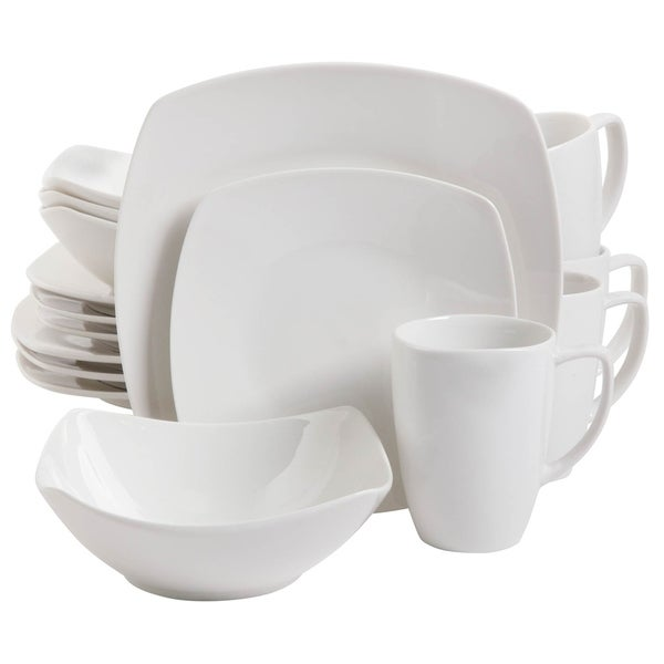 Zen Buffetware 16 piece Square Dinnerware Set  sc 1 st  Overstock.com & Zen Buffetware 16 piece Square Dinnerware Set - Free Shipping Today ...
