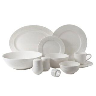 Gibson Home Eventide 46Pc Dinnerware, White