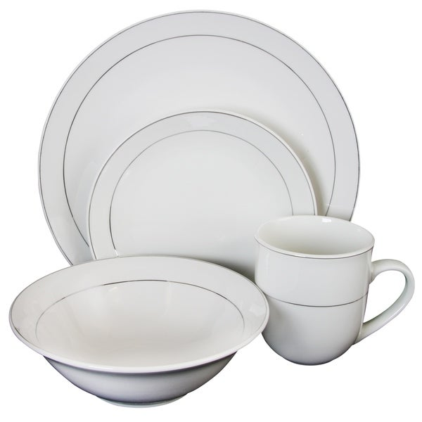 Shop Gibson Platinum Moon 16 Piece Dinnerware Set - Free Shipping ...
