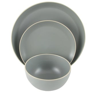 Gibson Home Rockaway 12-Piece Dinnerware Set in Grey