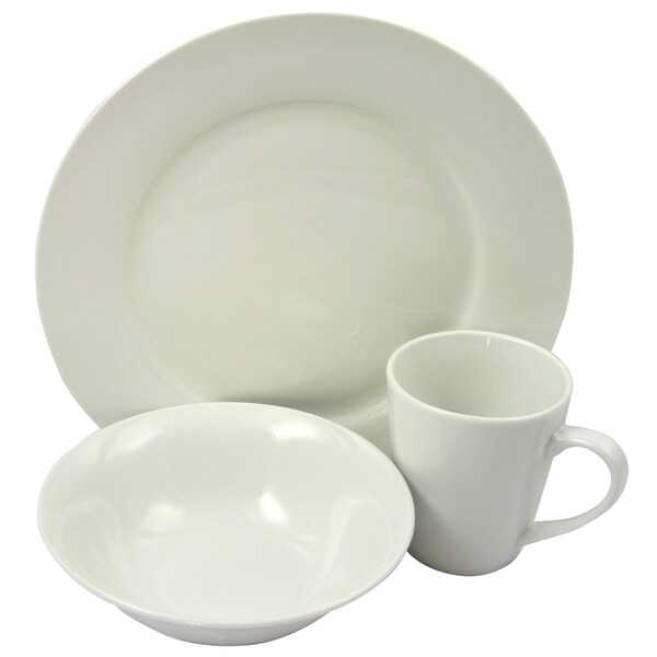 Gibson Home Noble Court Fine Ceramic 12 Piece Dinnerware Set in White  sc 1 st  Overstock.com & Gibson Home Noble Court Fine Ceramic 12 Piece Dinnerware Set in ...