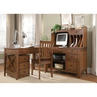 Home Styles Arts And Crafts Cottage Oak Pedestal Desk And