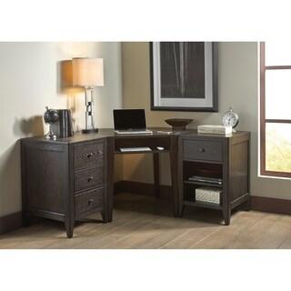 Autumn Oaks II Black 3-piece Opt Desk