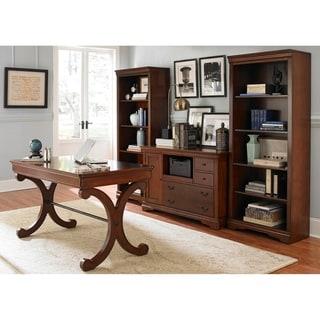 Exceptional Brookview Rustic Cherry 4 Piece Desk Set