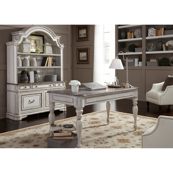 Magnolia Manor Antique White 3-Piece Desk and Hutch Set - Shop Magnolia Manor Antique White 3-Piece Desk And Hutch Set - Free