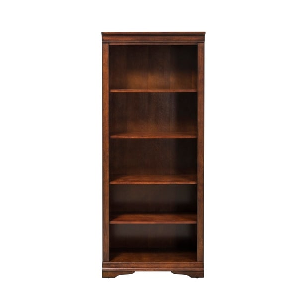 Shop Brookview Rustic Cherry Open Bookcase Overstock 18107636