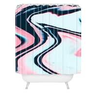 Marta Barragan Camarasa Effect Marble Glitch Shower Curtain
