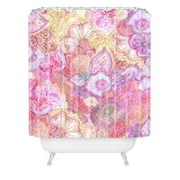 Stephanie Corfee Flourish Allover Girly Pinks Shower Curtain