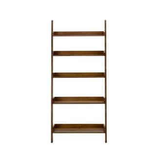 Farmhouse Weathered Oak Leaning Bookcase|https://ak1.ostkcdn.com/images/products/18107667/P24263945.jpg?impolicy=medium