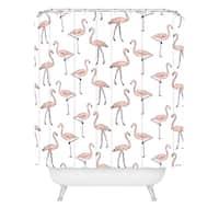 Allyson Johnson Fancy Flamingos Shower Curtain