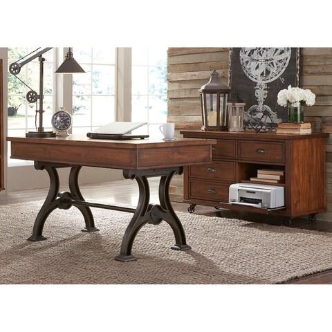 Arlington House Cobblestone Brown 2-piece Desk