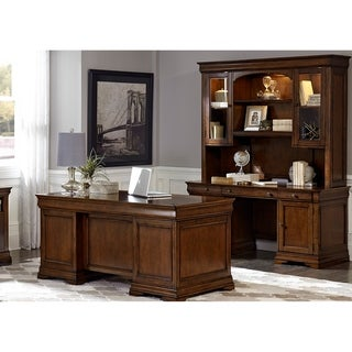 Chateau Valley Brown Cherry 5-piece Jr. Executive Set