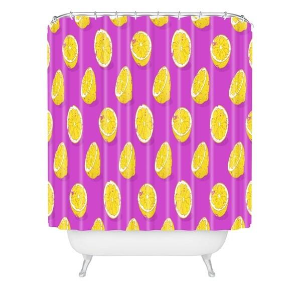Evgenia Chuvardina Juicy Lemon Shower Curtain