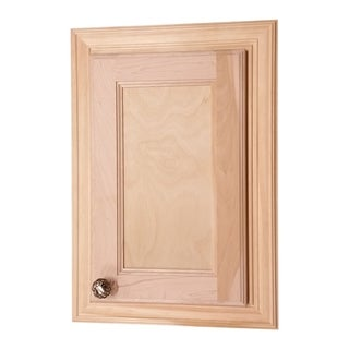 WG Wood Products Electra Recessed Solid Wood Powered Medicine Cabinet