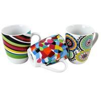 Sunshine Stripe Mosaic oui 6 piece mug set