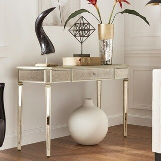 Clara Antique Gold Mirrored Sofa Table by iNSPIRE Q Bold