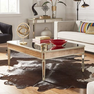 Clara Antique Gold Mirrored Accent Tables by iNSPIRE Q Bold