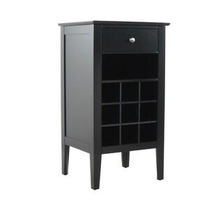 Wood Wine Storage Table (Option: Black)
