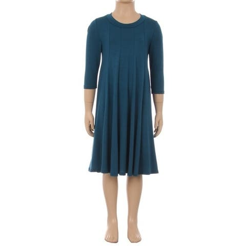 Children's Solid Pleated Dress