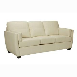 Hamilton Premium Ivory Top Grain Leather Sofa