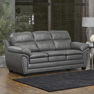 Marcus Premium Grey Top Grain Leather Sofa