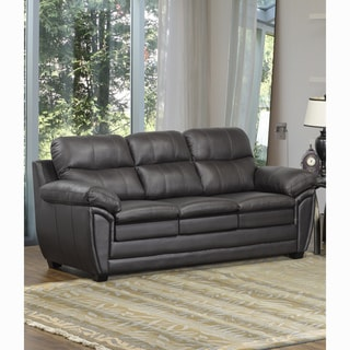Upton Premium Brown Top Grain Leather Sofa