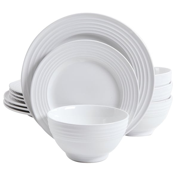 Gibson Plaza Cafe 12 piece Dinnerware Set in White Solid Color  sc 1 st  Overstock.com & Gibson Plaza Cafe 12 piece Dinnerware Set in White Solid Color ...