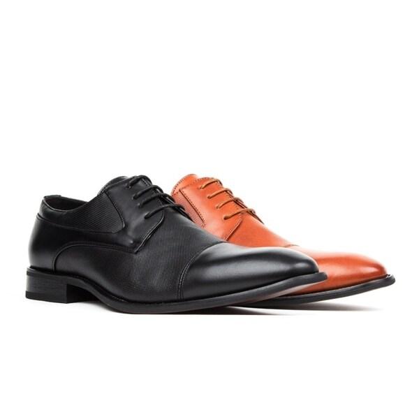 Gino Vitale Men's Cap Toe Lace-up Dress Shoes