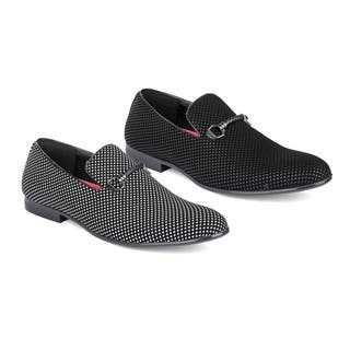 Miko Lotti Men's Slip-On Smoking Loafers with Buckle|https://ak1.ostkcdn.com/images/products/18107928/P24264158.jpg?impolicy=medium