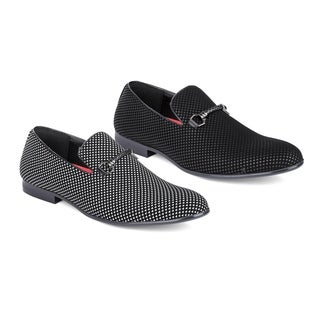 Miko Lotti Men's Slip-On Smoking Loafers with Buckle
