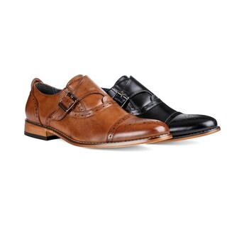 UV Signature Men's Single Monk Strap Cap Toe Brogue Shoes
